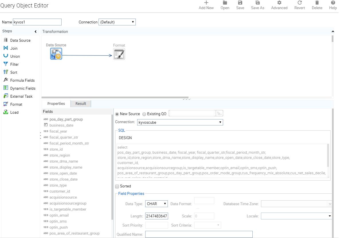 Intellicus 16 3 SP1 Release Notes - Data source Enhancements